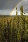 Ukon territory rainbow Stock Photos