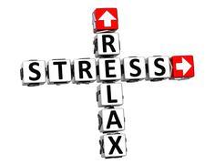 3d relax stress crossword - stock illustration