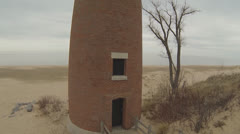 Michigan Lighthouse:  Aerial Shot  (Part 3 ) Stock Footage