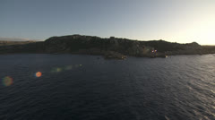 Low level flight along the coast 1, mediterranean sea, Sardinia / Italy Stock Footage