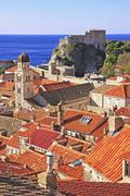 St. lawrence fortress and city of dubrovnik, croatia Stock Photos