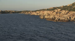 Low level flight along the coast 3, mediterranean sea, Sardinia / Italy Stock Footage
