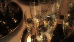 Taking Champagne Glass - Close Up, Pan HD Stock Footage