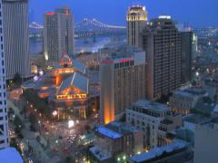 New Orleans Sunset Time-Lapse (2K) - stock footage