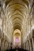 Nave of a gothic church Stock Photos