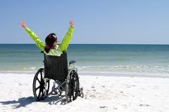 Woman successful disabled Stock Photos