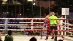 Muay Thai Kick Boxing Action Stock Footage
