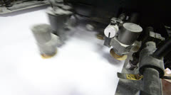 Offset printing machine Stock Footage