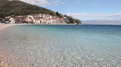 Beautiful pebble beach Stock Footage