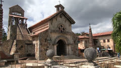 Dominican republic - village church Stock Footage
