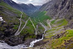 Trollstigen pass, norway Stock Photos