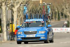Car assistance car of Argos Shimano Team Stock Photos