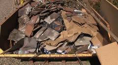 A skip full of rubbish - stock footage