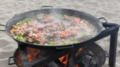 Dominican Republic - Paella Stock Footage