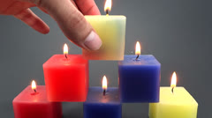 decorative candle - stock footage