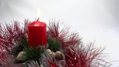 Holiday candle ornament Stock Footage