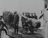 Stock Video Footage of World War 1 - Submarine takes Passengers on board