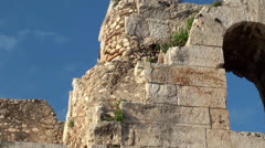 Ruined Arch of the Odeon of Herodes Atticus theater. Athenian Acropolis. Stock Footage