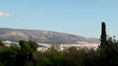 The Bird's eye view of Athens. Stock Footage