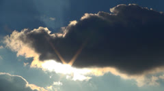 Clouds, Sun through Clouds on a Windy Day, Backgrounds Stock Footage