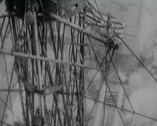 World War 1 - Warships and Officers Parade at deck Stock Footage