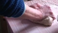 Lady making dumplings (5) Stock Footage
