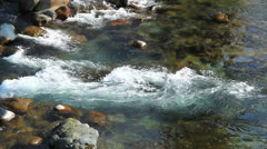 Icy river in phalgam Stock Footage