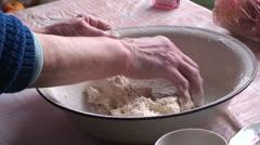 Lady making dumplings (1) Stock Footage