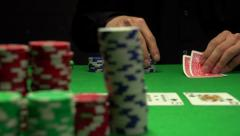 Man playing Texas Hold 'em Stock Footage