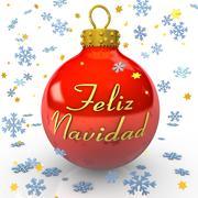 Christmas tree bauble - feliz navidad Stock Illustration
