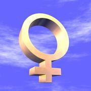 Feminine symbol 3d Stock Illustration