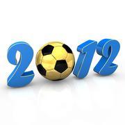 soccer 2012 - stock illustration