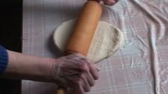 Lady making dumplings (9) Stock Footage
