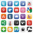 Stock Illustration of Social set squared icons
