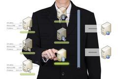 businessman choose database - stock photo