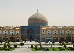 sheikh lotf allah mosque at naqsh-e jahan square in isfahan, iran - stock photo