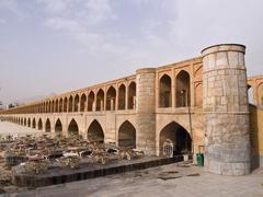 33 pol allah verdi khan bridge in isfahan, iran in the morning Stock Photos