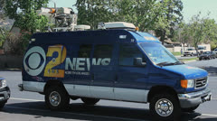 TV NEWS VAN Stock Footage