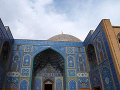 sheikh lotf allah mosque entrance in naghsh-i jahan square, isfahan, iran - stock photo