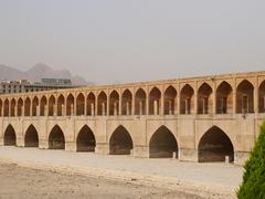 isfahan, iran- may 9-33 pol allah verdi khan bridge in isfahan, iran in the m - stock photo