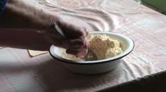 Lady making dumplings (16) Stock Footage