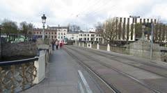 Luas Tram 1 Stock Footage