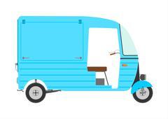 three wheeled motor rickshaw. - stock illustration