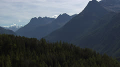 Reveal shot of valley with small villages, Tyrol / Austria Stock Footage