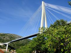 Frank tudman's bridge, dubrovnik, croatia Stock Photos