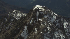 aerial rotation around mountain peak, alps, Tyrol / Austria - stock footage