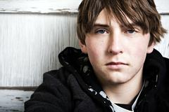 Teen male portrait Stock Photos