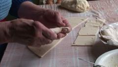 Lady making dumplings (20) Stock Footage