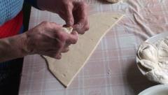 Lady making dumplings (22) Stock Footage