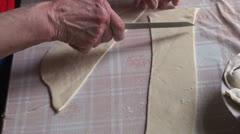 Lady making dumplings (14) Stock Footage